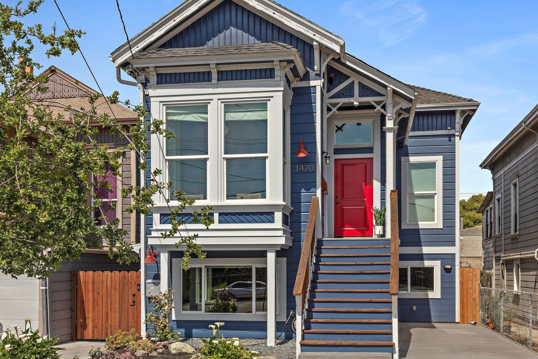 3. Duplex Homes for Sale at 'The Blue House' - Eastlake Style Victorian 1470 12th Street Oakland, California 94607 United States