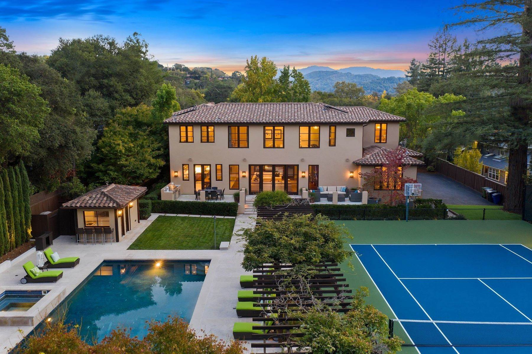 42. Single Family Homes for Sale at European Resort-Like Estate 109 Fawn Drive San Anselmo, California 94960 United States