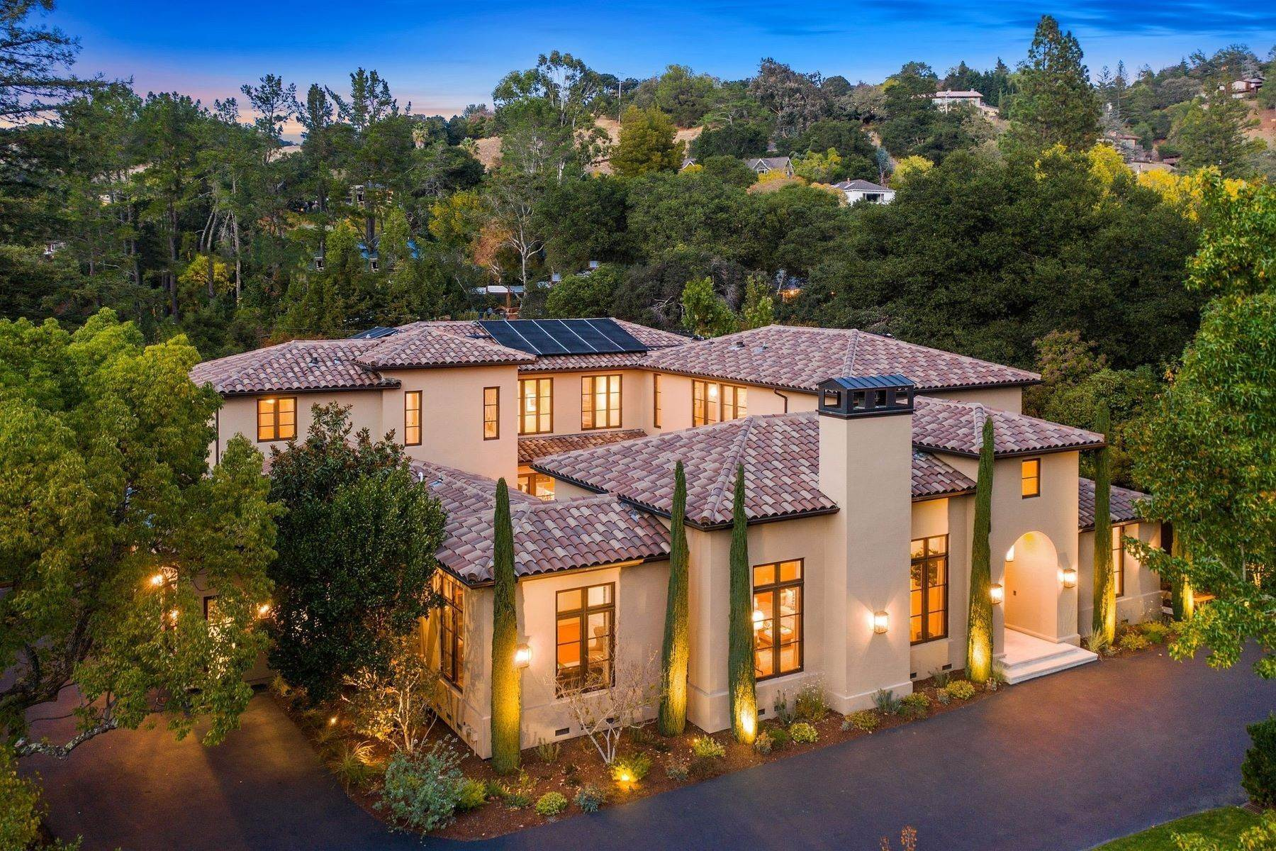 Single Family Homes for Sale at European Resort-Like Estate 109 Fawn Drive San Anselmo, California 94960 United States