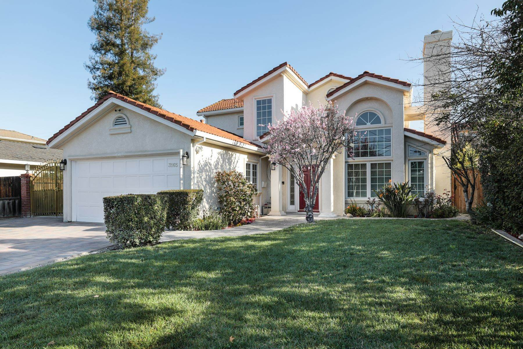 Single Family Homes for Sale at Desirable Midtown Mediterranean 3165 Louis Road Palo Alto, California 94303 United States