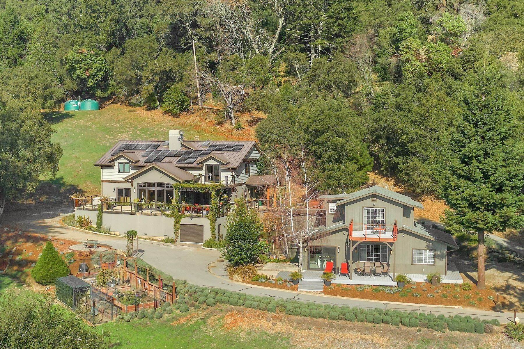 Single Family Homes für Verkauf beim 4 Acres, 2 Homes, Views of Monterey Bay 24964 Skyland Ridge Road Los Gatos, Kalifornien 95033 Vereinigte Staaten