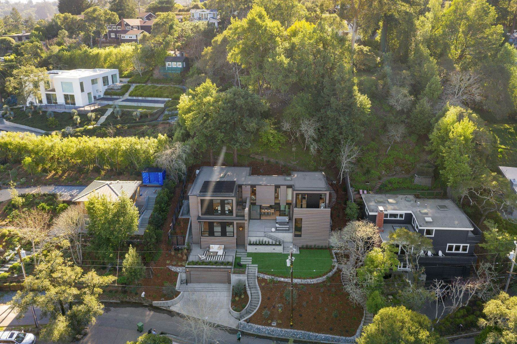 9. Single Family Homes for Sale at Modern Mill Valley New Construction 216 Ethel Avenue Mill Valley, California 94941 United States
