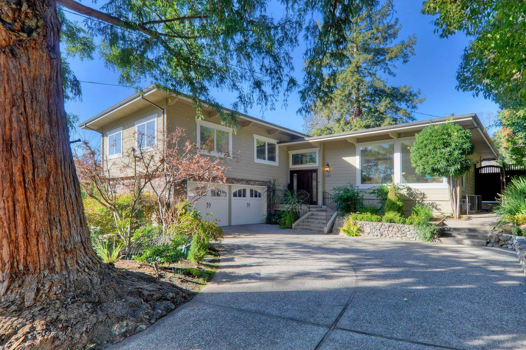 Single Family Homes for Sale at Completely Renovated Mid-Century Retreat 220 Frances Lane San Carlos, California 94070 United States