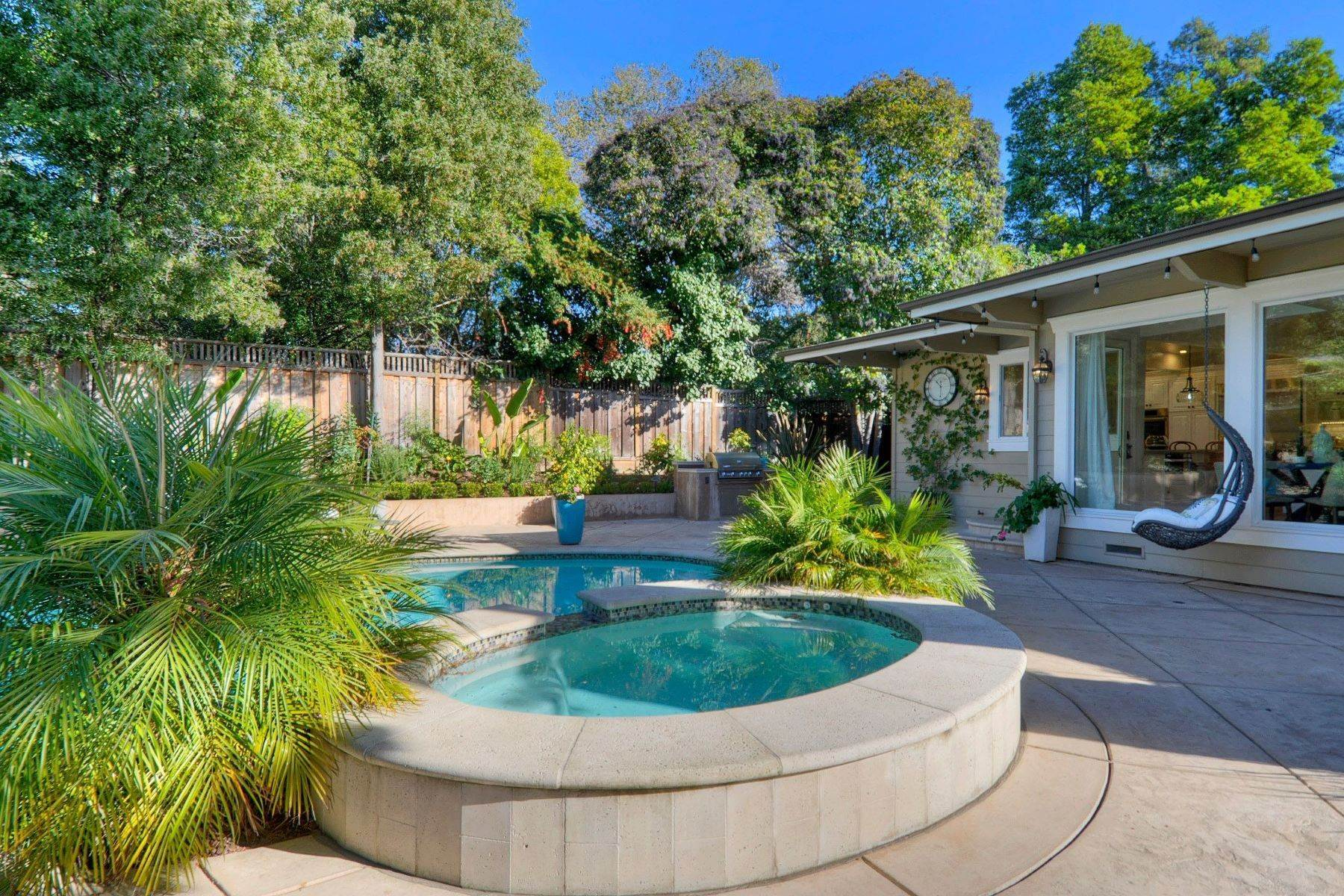 45. Single Family Homes for Sale at Completely Renovated Mid-Century Retreat 220 Frances Lane San Carlos, California 94070 United States