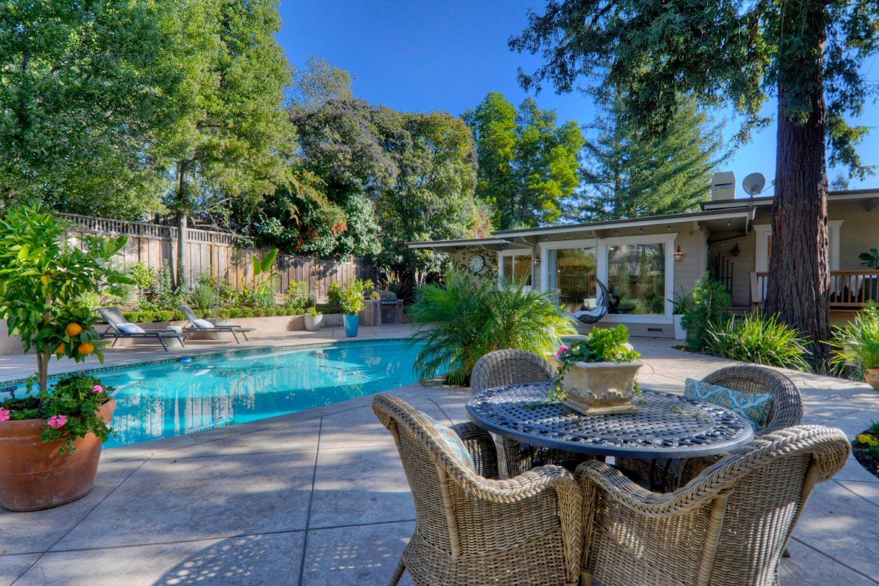44. Single Family Homes for Sale at Completely Renovated Mid-Century Retreat 220 Frances Lane San Carlos, California 94070 United States