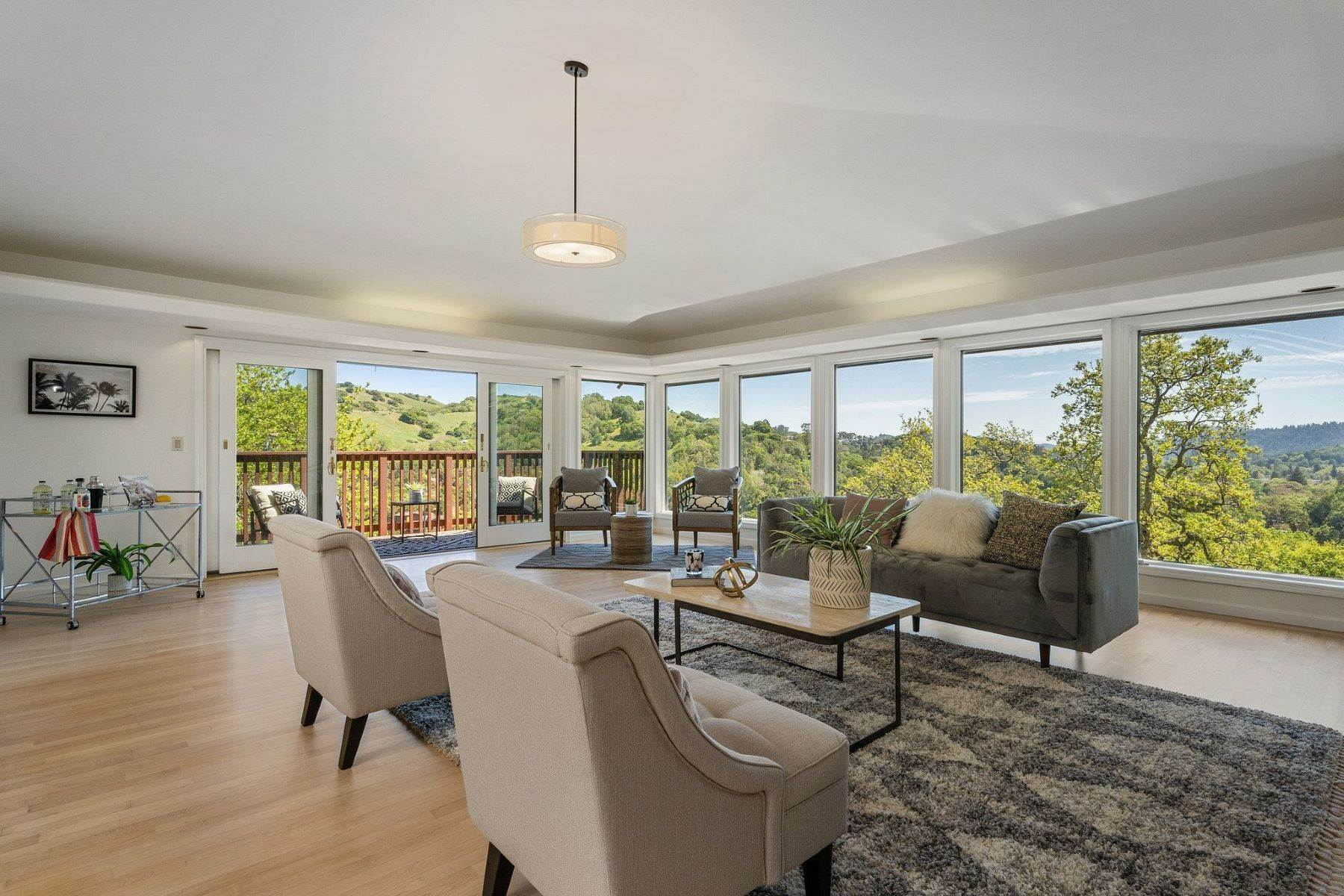 Single Family Homes for Sale at Large Home with Views for Days in Sleepy Hollow 48 Woodside Drive San Anselmo, California 94960 United States