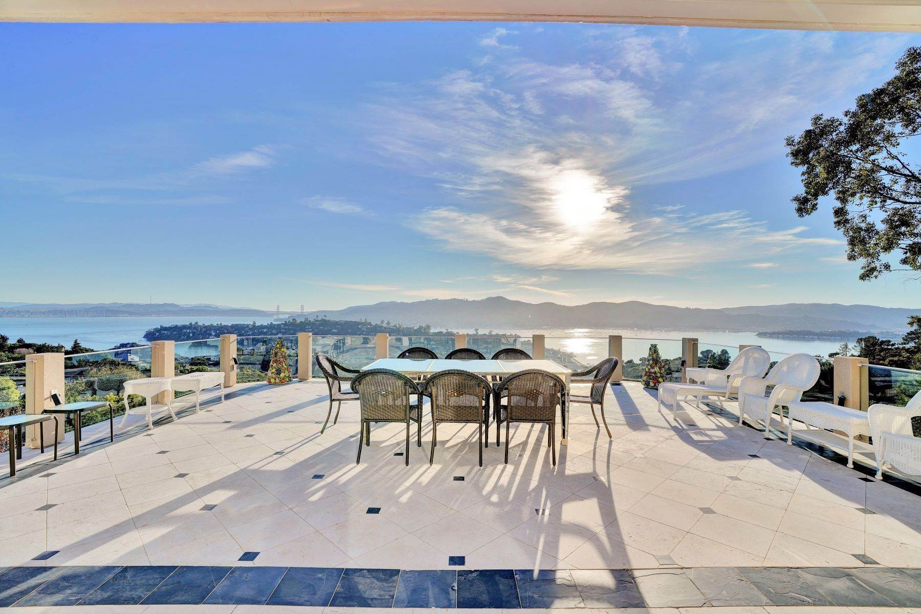 Single Family Homes for Sale at Gated Estate With Stunning Views! 10 Venado Drive Tiburon, California 94920 United States