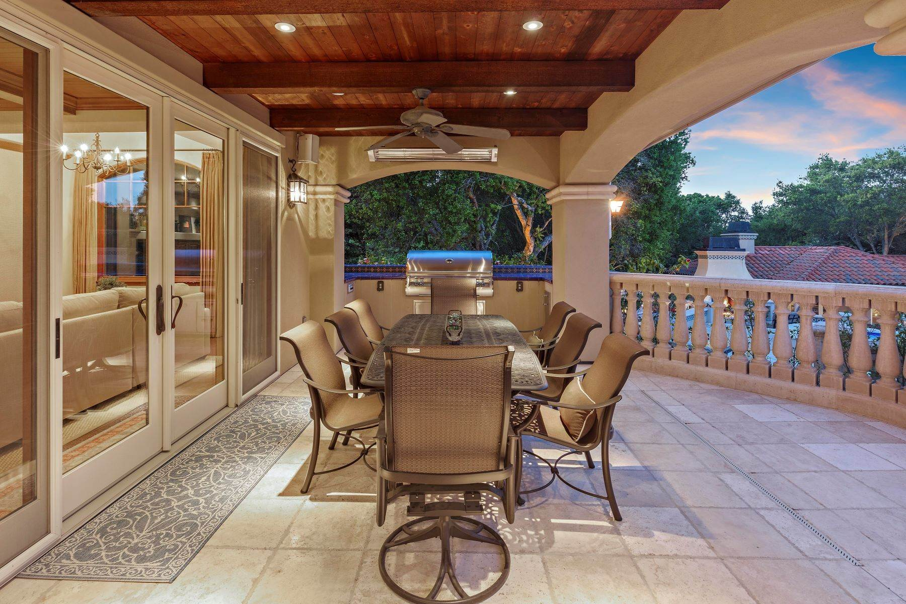 38. Single Family Homes for Sale at Custom Built Mediterranean with Views 4200 Canyon Road Lafayette, California 94549 United States