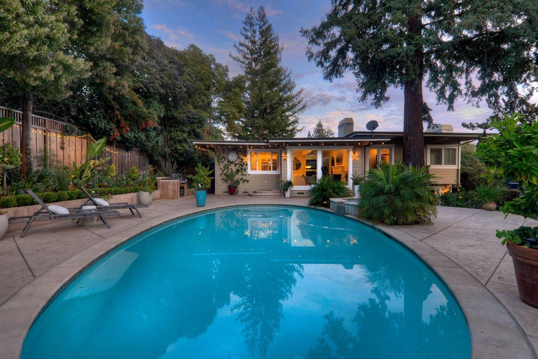 48. Single Family Homes for Sale at Completely Renovated Mid-Century Retreat 220 Frances Lane San Carlos, California 94070 United States