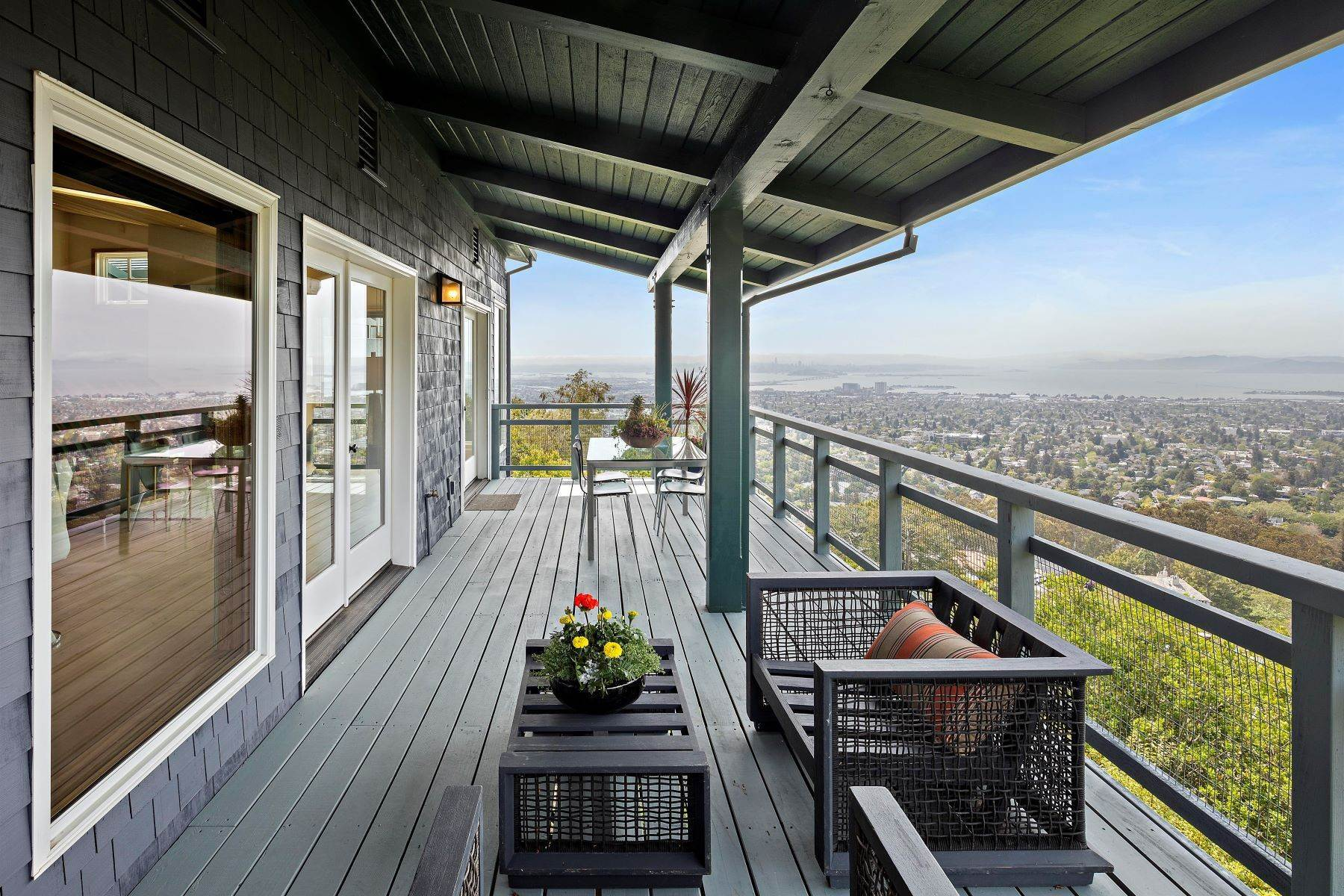15. Single Family Homes for Sale at Architecturally Designed Home with Sweeping Bay Views 357 Gravatt Drive Berkeley, California 94705 United States