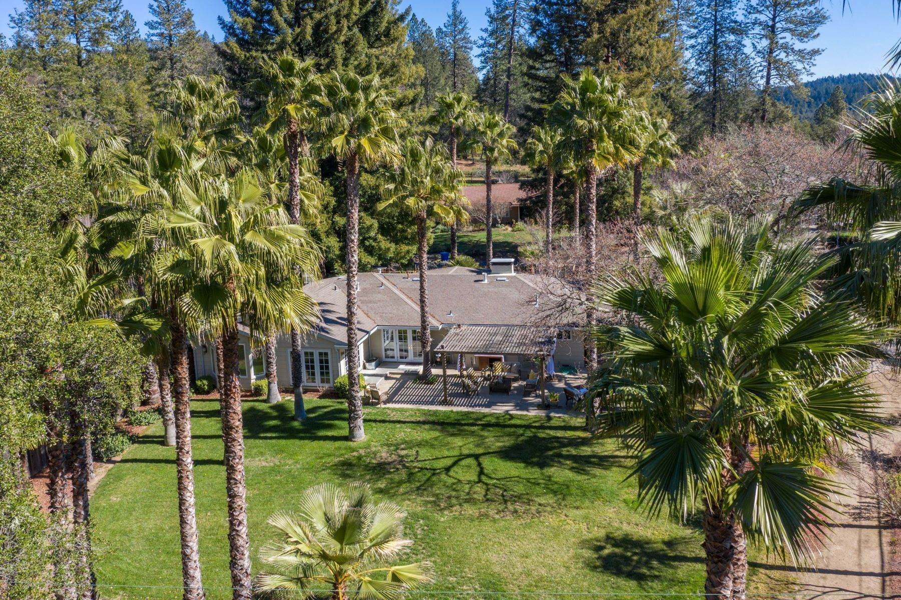 Single Family Homes for Sale at Elegant Country Home in Park-Like Setting 541 Sunset Drive Angwin, California 94508 United States