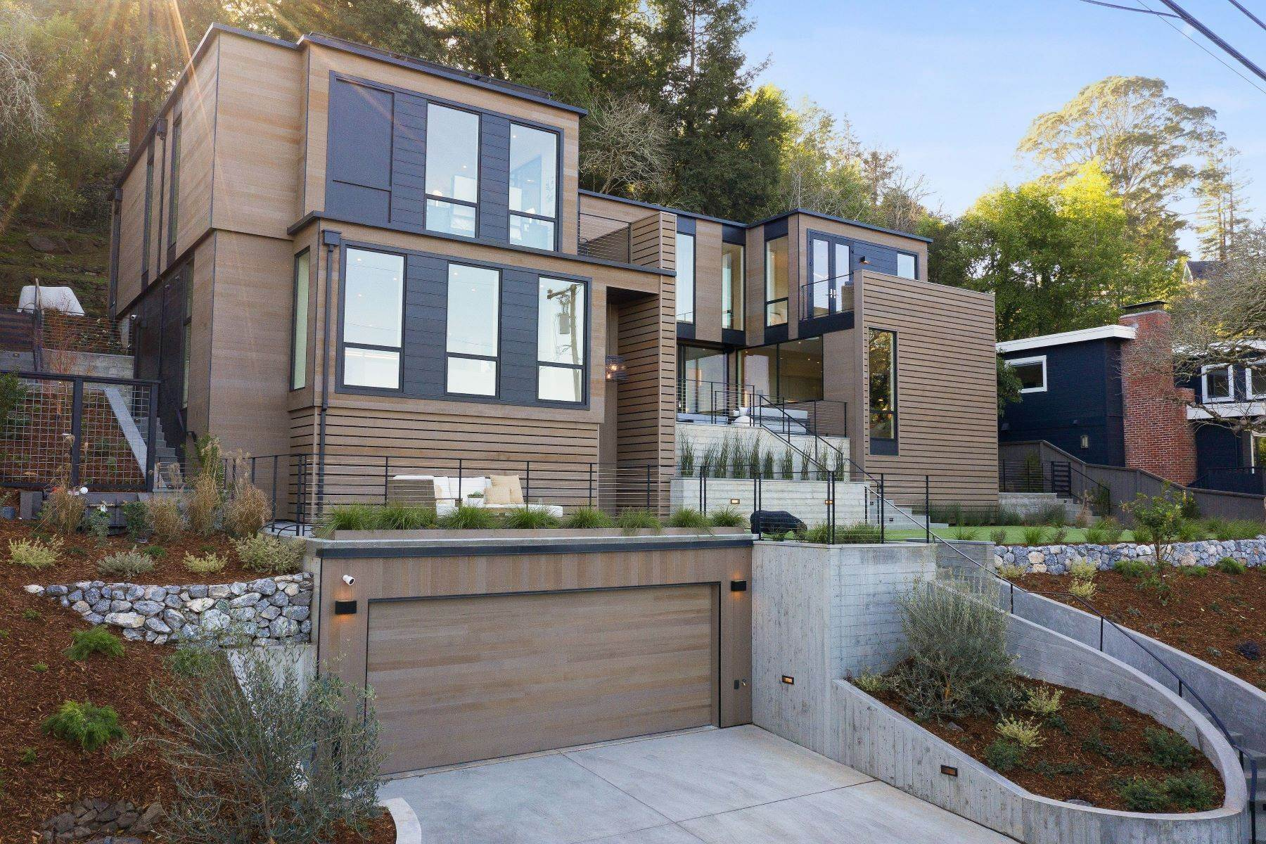 Single Family Homes for Sale at Modern Mill Valley New Construction 216 Ethel Avenue Mill Valley, California 94941 United States