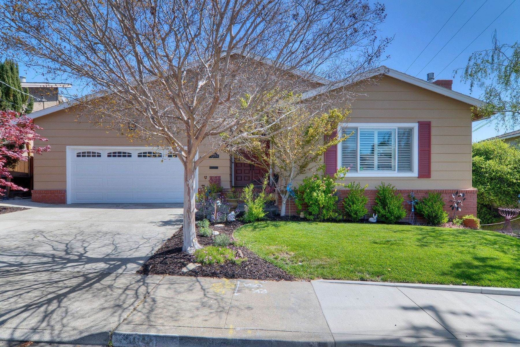 Single Family Homes for Sale at Comfort and Style Outfitted for the 21st Century 1001 Crestview Drive San Carlos, California 94070 United States