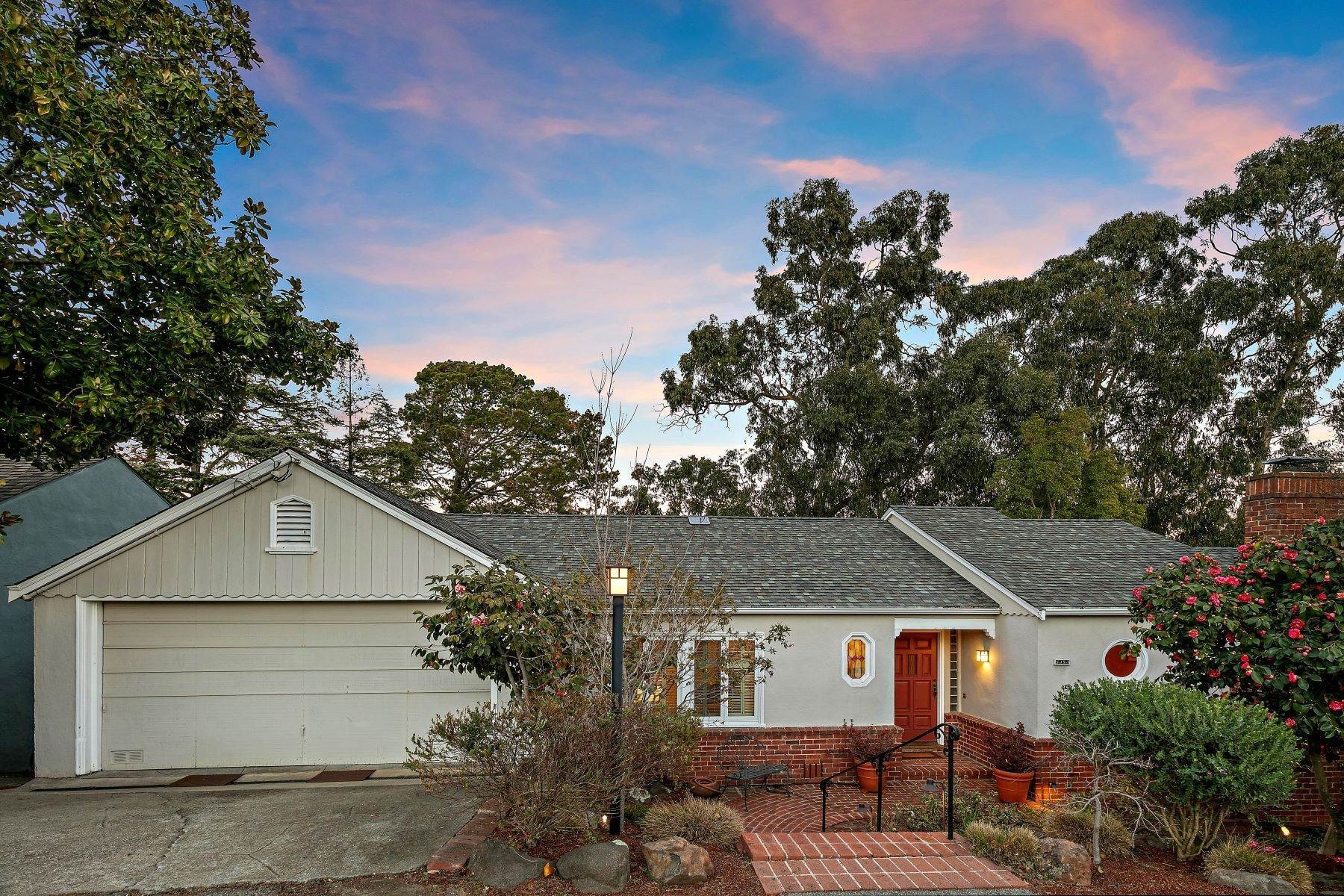 Single Family Homes for Sale at Updated Upper Rockridge Traditional 5454 Hilltop Crescent Oakland, California 94618 United States