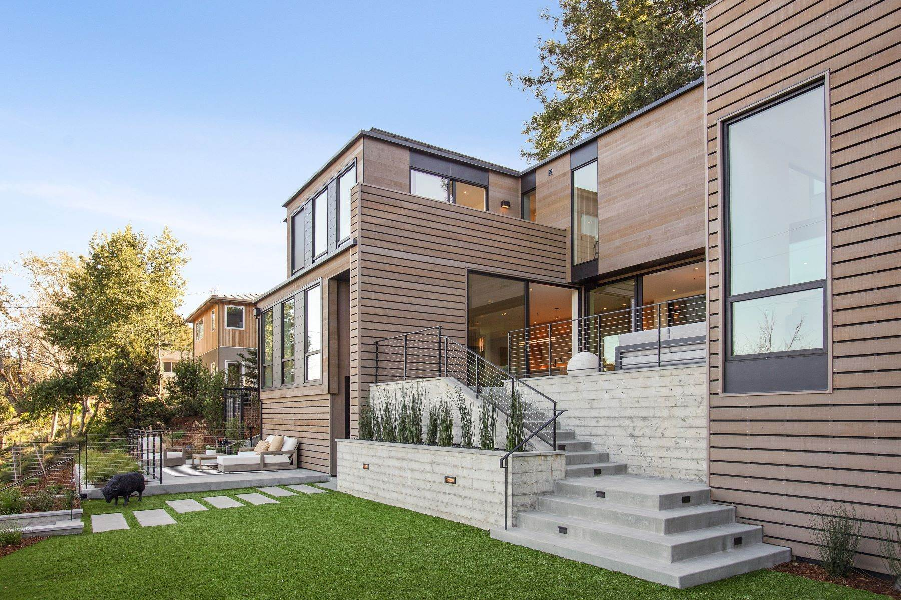 7. Single Family Homes for Sale at Modern Mill Valley New Construction 216 Ethel Avenue Mill Valley, California 94941 United States