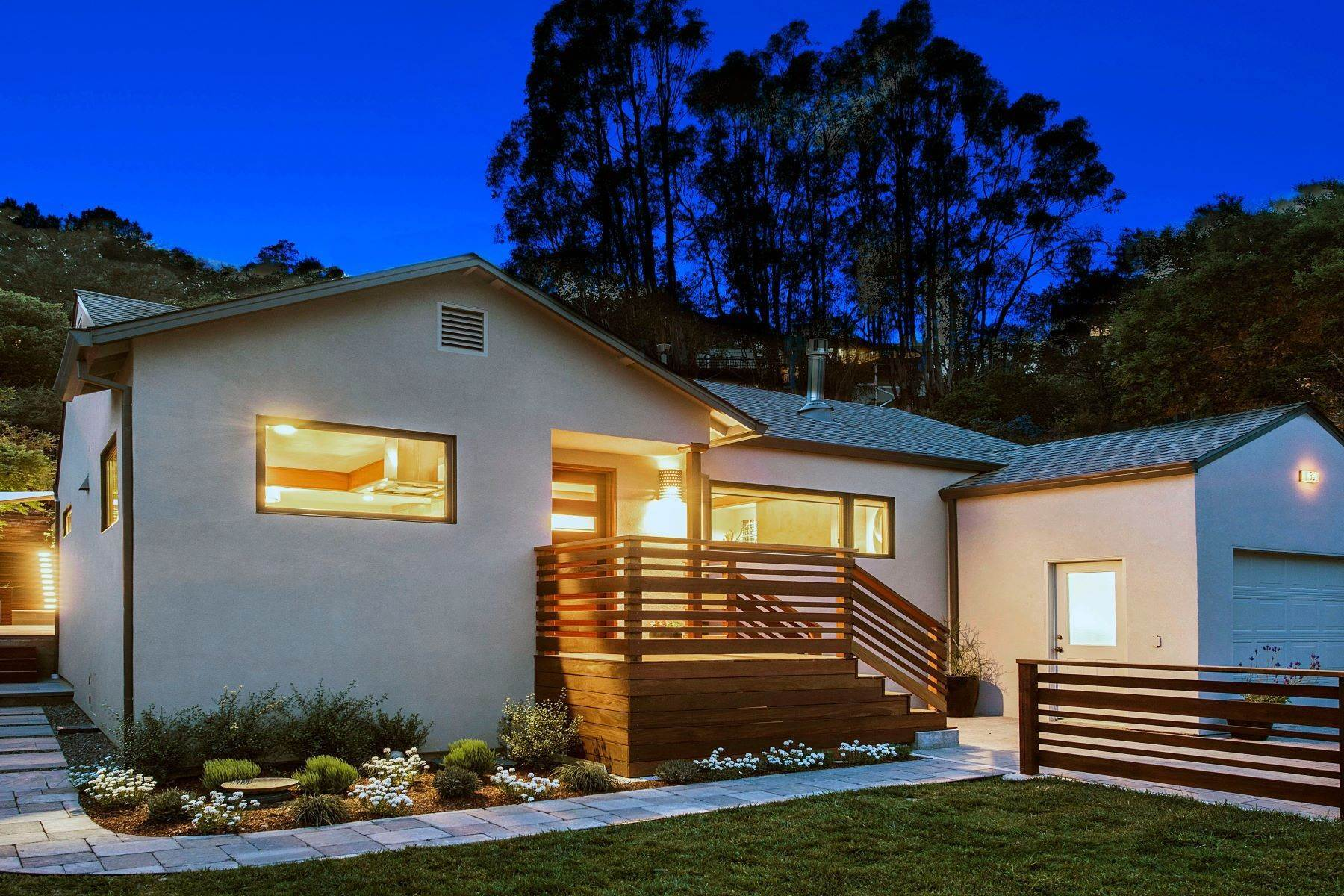 Single Family Homes for Sale at Warm and Appealing Modern Craftsman 55 Durham Road San Anselmo, California 94960 United States