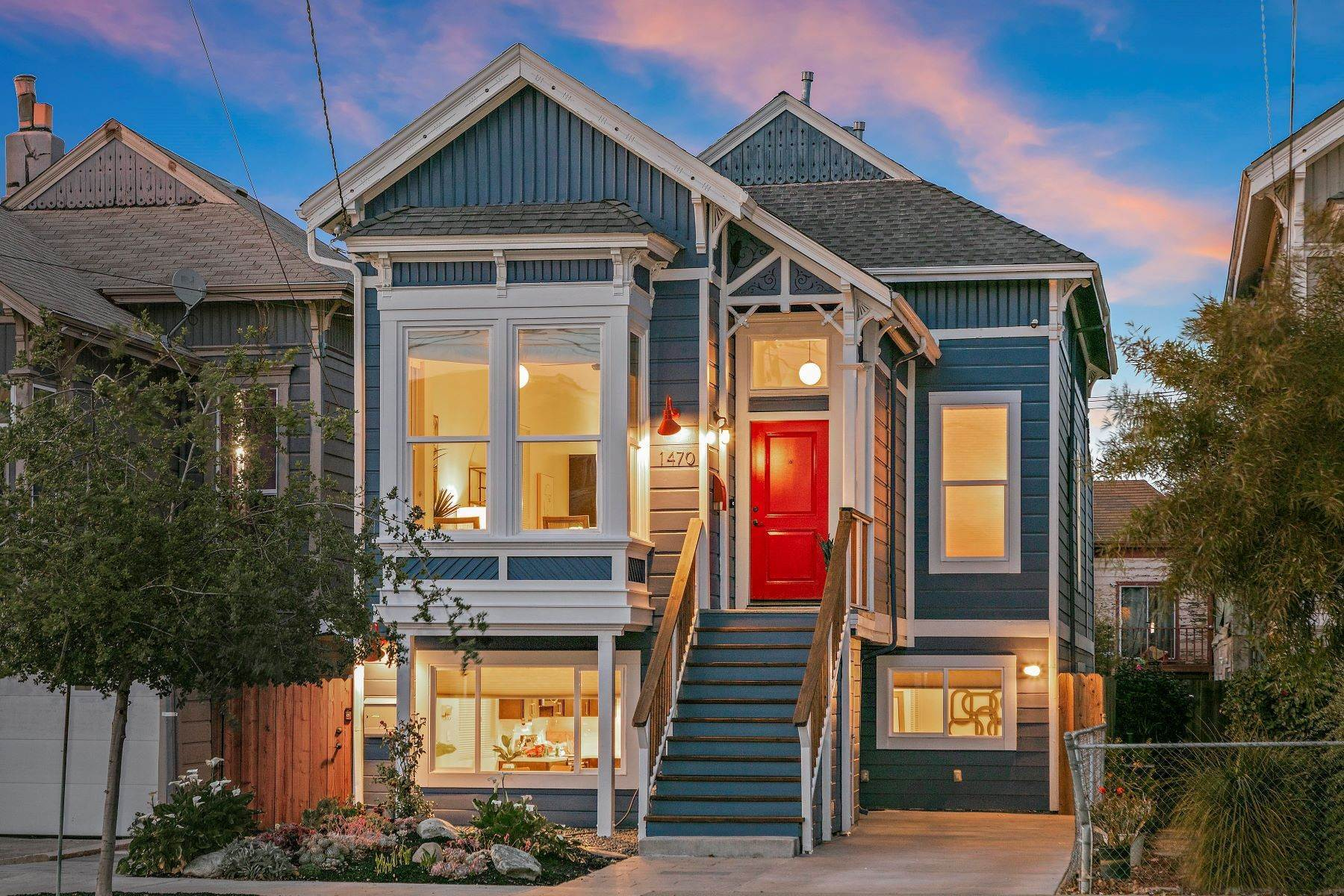 Single Family Homes for Sale at 'The Blue House' - Eastlake Style Victorian 1470 12th Street Oakland, California 94607 United States