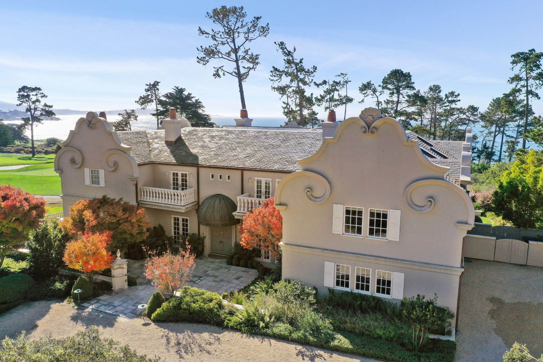 Single Family Homes for Sale at Sophisticated Pebble Beach Estate 3410 17 Mile Drive Pebble Beach, California 93953 United States