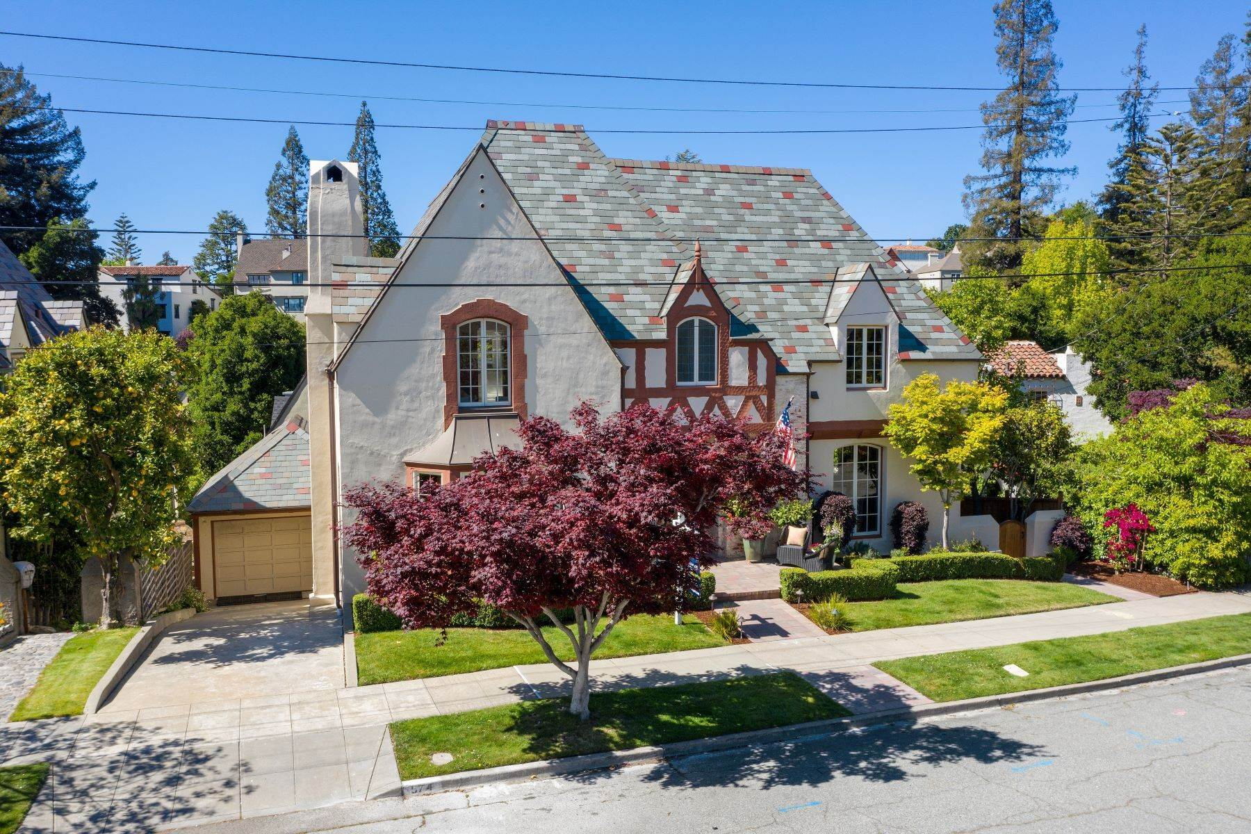 Single Family Homes for Sale at Charismatic Tudor, Fine-Tuned for Today 974 Larkspur Rd Oakland, California 94610 United States